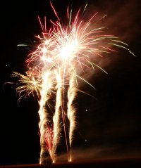 Skegness Beach Fireworks Photograph