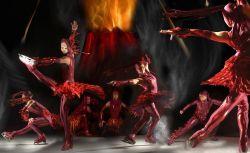 Cirque De Glace Fire