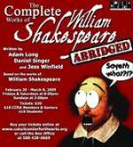 Shakespeare Abridged Poster