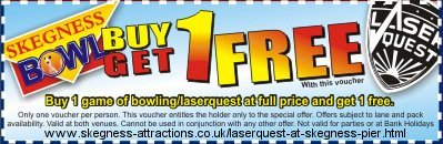 Laserquest Voucher : LaserQuest at Skegness Pier